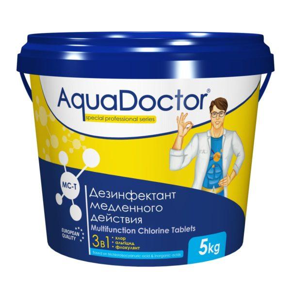 Дезинфектант 3 в 1 AquaDoctor MC-T таблетки, 5 кг