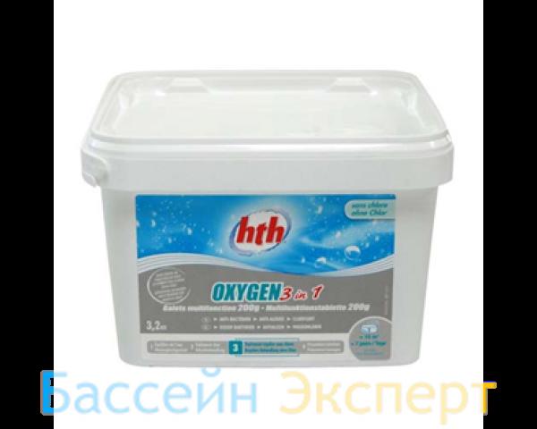 Многофункциональные таблетки активного кислорода 3 в 1 OXIGEN HTH, 200 гр. 3,2 кг